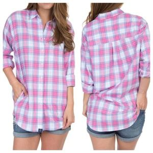 Lauren James Boyfriend Flannel Shirt